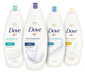 dove body wash bottles